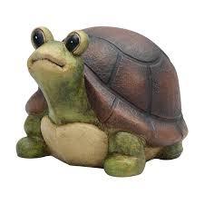 shop garden treasures 8 25 in turtle garden statue at lowes com garden treasures 8 25 in turtle garden statue