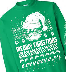 meowy christmas sweater meowy christmas cat sweater last earth clothing