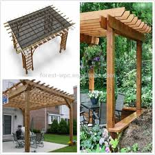 Solid Roof Pergola Kits by Outdoor Gazebo With Wpc Roof Plastic Roof Gazebos Large Outdoor