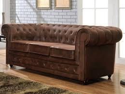 cdiscount soldes canape canapé 3 places chesterfield en microfibre aspect cuir vie flickr