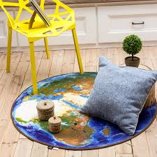 Kids Room Rugs by Multisize Blue 3d Earth Design Round Rug Kids Room Rugs Washable