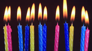 birthday candle burning birthday candles stock footage 2993941