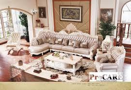 canapé de luxe luxe antique style véritable canapé en cuir ensemble pour