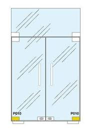 patch fitting glass door p010 bottom glass door patch fitting to suit floor springs