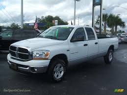 2006 dodge ram 1500 4x4 for sale 2006 dodge ram 1500 slt cab 4x4 in bright white 142796