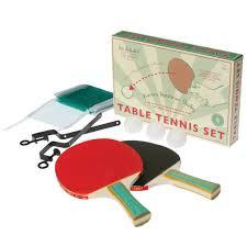 set de table vintage table tennis set dotcomgiftshop