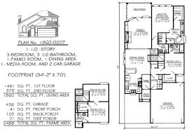 narrow house plans with garage narrow 2 floor plans less than 36 wide