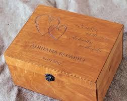 personalized keepsake wedding keepsake box etsy