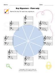 music worksheet categories key signatures