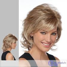 wigs medium length feathered hairstyles 2015 estetica design angela synthetic full wig wig hair style