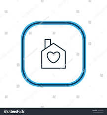 vector illustration house outline beautiful amour stock vector