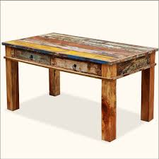 distressed wood dining table decofurnish