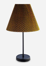 accordion lamp shade u0026 cast table fish scale fabric by vlisco by hay