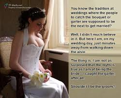wedding captions picture of forced feminization forced crossdressing