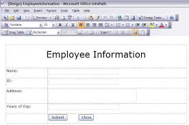 how important employee information form u2013 project management