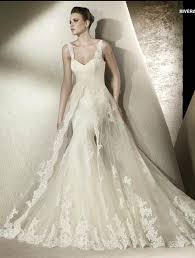 wedding dress overlay fashionable mermaid trumpet strapless tulle and lace wedding