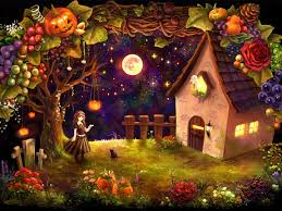 halloween theme wallpaper halloween cottage wallpaper allwallpaper in 5737 pc en