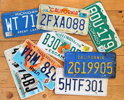 Make Your Own Vanity Plate License Plate Christmas Tree A Piece Of Rainbow