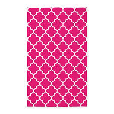 Pink Outdoor Rug Pink Quatrefoil Pattern 3 X5 Area Rug By Inspirationzstore
