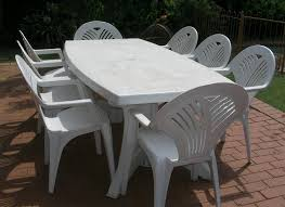 White Resin Patio Tables Home Design Cool White Garden Table Plastic Patio And Chairs 6