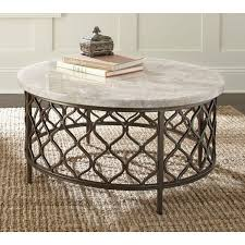 round stone top coffee table rockvale stone top round coffee table by greyson living free