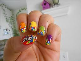 Food Nail Art Designs Candy Rainbow Sweet Hand Painted Nail Art Nail Polish