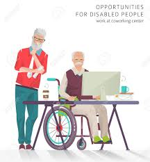 under the table jobs for disabled concept of training courses for all people disabled man has