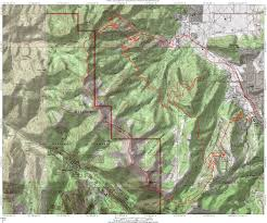 Topographical Map Of Utah by Park City Mid Mountain Trail