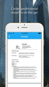 Resume Maker On The Go Resume Creator Cv Writer App On The App Store