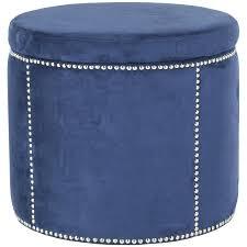 Blue Storage Ottoman Ottomans Blue Tufted Ottoman Velvet Navy Pouf Storage Cube