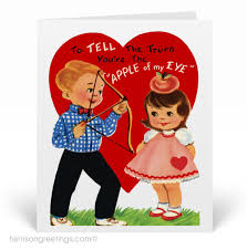 retro valentines vintage retro s day card val136 harrison greetings