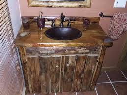 unique bathroom vanities ideas rustic pine bathroom vanities brown marble tiles floor wine barrel