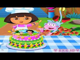 dora cake dora explorer cooking cake game kids