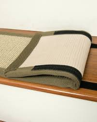 Stair Rug Meadow Sisal Carpet Stair Treads W Hook Loop Velcro Set Of Carpet