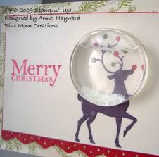 3 d christmas class stamping with blue moon creations