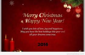 a merry and a happy new year wishes sayings 2016