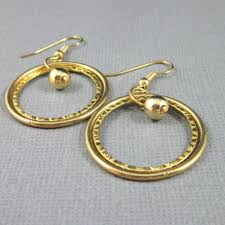 non nickel earrings these handmade earrings gold plated hoops with a