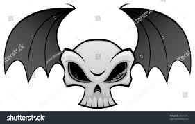 vector illustration angry skull bat wings stock vector 28976341