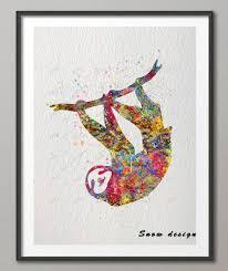 aliexpress com buy diy original sloth watercolor canvas painting