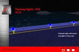 Taxi Light Second Life Marketplace Taxiway Edge Light Tx1 V3