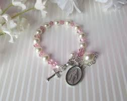 baby rosary bracelet baby rosary bracelet etsy