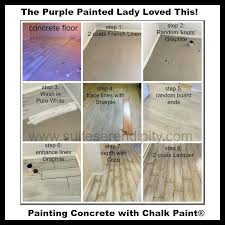 Can You Use Chalk Paint On Kitchen Cabinets Chalk Paint On Your Concrete Floor The Purple Painted Lady