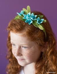felt flower headband lia griffith