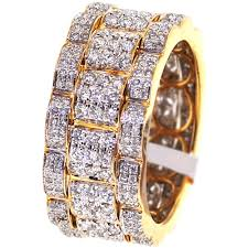 mens eternity rings mens diamond eternity wedding band ring 14k yellow gold 2 09 ct