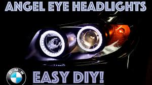 bmw e90 headlights angel eye headlight upgrade bmw e90 youtube