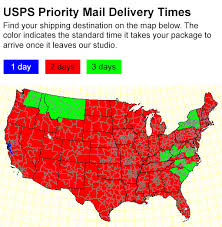 usps class shipping map mail delivery estimates