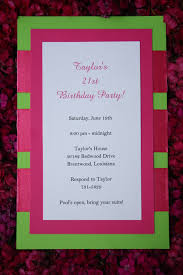 Homemade Birthday Invitation Cards 21st Birthday Invitations 7 Best Birthday Resource Gallery