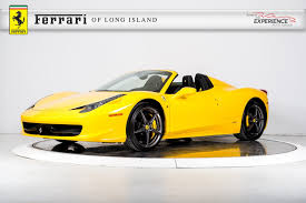 Ferrari 458 Yellow - used 2014 ferrari 458 spider for sale plainview near long island