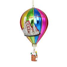 francisco glass air balloon christmas ornament