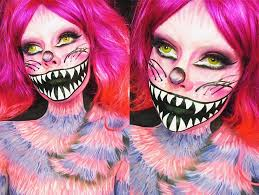 cheshire cat halloween makeup cheshire cat makeup tutorial ash clements youtube